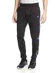 Kappa Men's Active Performance Training Slim Pant, Black/Blue, S