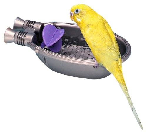 Pennplax Rocket Ship Bath Tub for Pet Birds