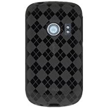 Amzer 90288 Luxe Argyle High Gloss TPU Soft Gel Skinase - Smoke Grey For Huawei Ideos U8150