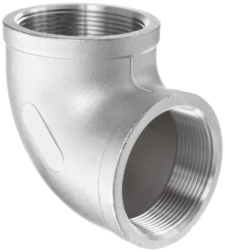 "Stainless Steel 316 Cast Pipe Fitting, 90 Degree Elbow, Class 150, 3/4"" Npt Female"