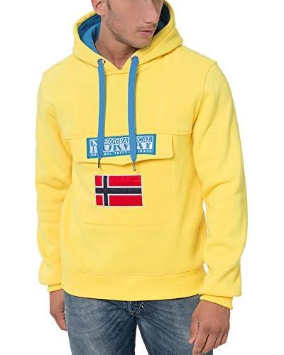 Geographical Norway Kapuzensweatshirt Gadrien gelb/blau