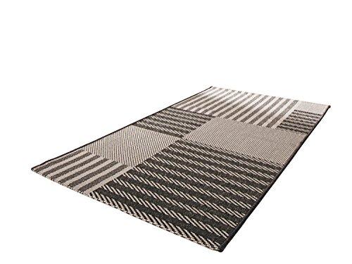 Teppich anthrazit Größe 80x150 cm