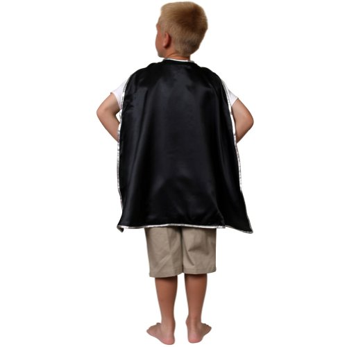 Storybook Wishes Black Satin Cape w/Silver Trim