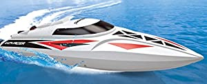 UDI007 Voyager Remote Control Boat for Pools, Lakes and Outdoor Adventure - 2.4GHz High Speed Electric RC Boat - includes BONUS BATTERY (*Doubles Racing Time*) - [Large Size]