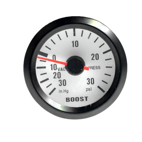 New 2 Inch 52Mm Blue Led Boost Vacuum Gauge 30 In.Hg / 30 Psi Fit For Car Auto Motor
