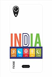 Noise Secular India White Printed Cover for Micromax Canvas Selfie Lens Q345