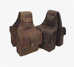 Canvas Saddle Bag Brown
