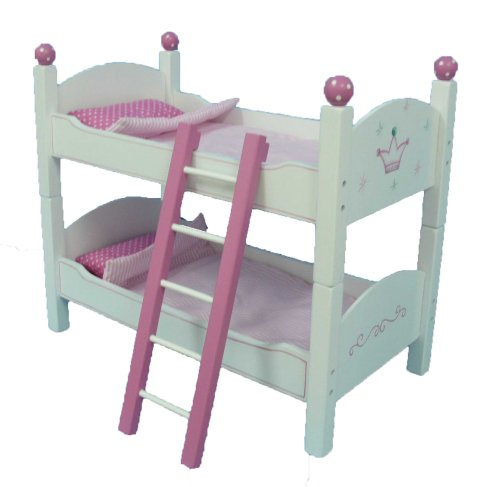 "18 Inch Doll Wish Crown Bunk Bed Furniture - Beds Fit 18"" American Girl Dolls"