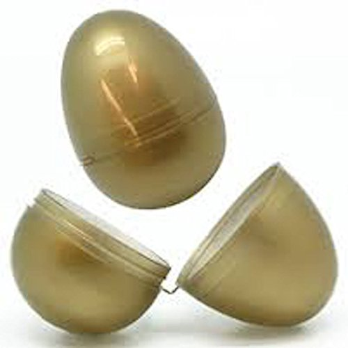 Gold Color Hinged Easter Eggs (25 Count) - 1