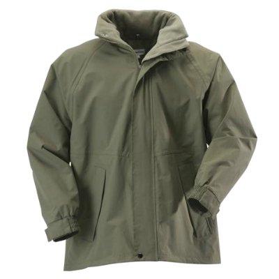 Mens Khaki Green Stormchaser Waterproof Rain-Coat Padded Winter Mack-Jacket