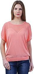 TSAVO Women's Regular Fit Top (1543_PINK, Pink, Medium)