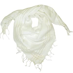 Clothing & Accessories Women's White Scarf-Stylish square scarf for women-Perfect for everyone from girls as young as 10 to women of any age-Available in 9 Colours