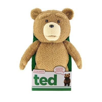 """Ted 16"""" Plush with Sound & Moving Mouth, R-Rated, 5 Phrases (Explicit Language)"""