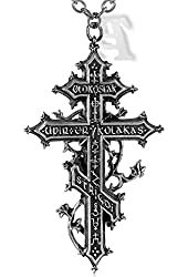 Balkan Revenant's Cross Alchemy Gothic Necklace