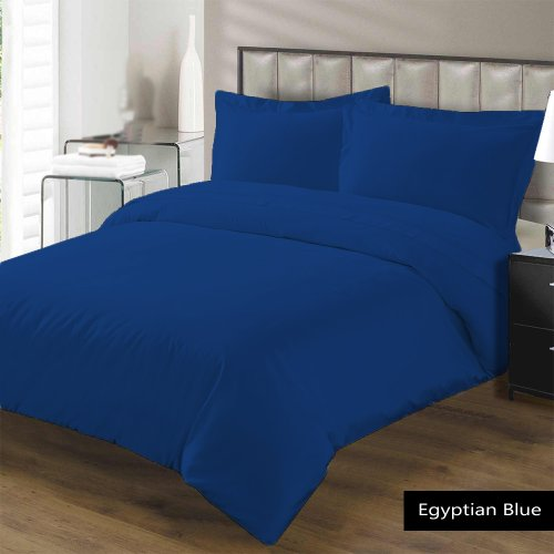 "500 Tc 4 Pc Sheet Set Twin Xl Size Solid Egyptian Blue Fits Mattress Upto 27"" Deep By Jay'S Home Goods"