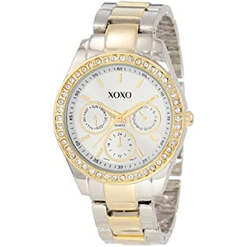 Set A Shopping Price Drop Alert For XOXO Women's XO5429  Rhinestone Accent Two-Tone Bracelet Watch