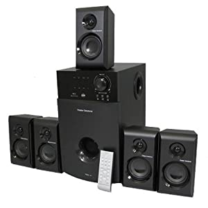 Theater Solutions TS514 5.1 Multimedia Powered Home Theater Surround Sound Speaker System by Theater Solutions