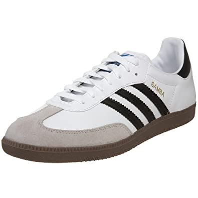 adidas Originals Men's Samba Fashion Sneaker,White/Black,4 D US