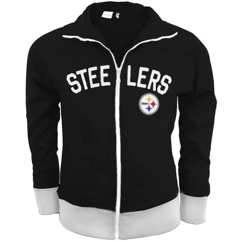 Pittsburgh Steelers - Tennis Premium Juniors Stretch Track Jacket X-Large Black at Amazon.com