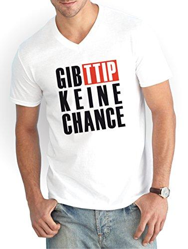 Gib-TTIP-Keine-Chance-V-Neck-T-Shirt-White