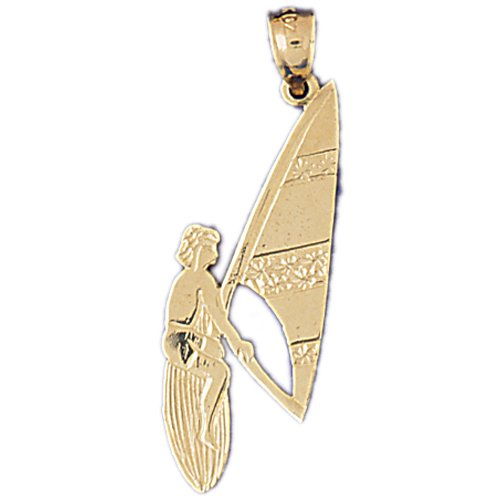 14kt Yellow Gold Wind Surfer Pendant