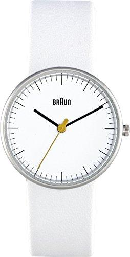 Braun BN0021WHWHL - Reloj analógico de mujer de cuarzo con correa de piel blanca