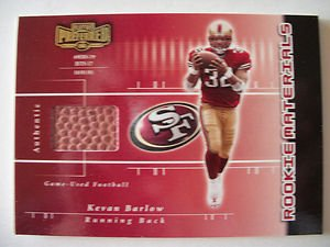 2002 PLAYOFF PREFERRED # 206 KEVAN BARLOW GAME USED CARD ,085 400 ,49ER ! Box 8 by Playoff