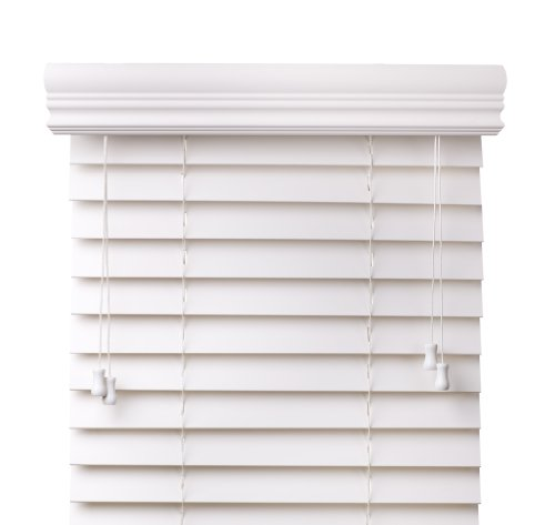 """Super White 2"""" Customized Bass Wood Blinds,Width 27in., Free Shipping, 27 x 72"""