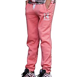 adidas Originals Girls' Trousers (AB1678164_Pink and White_14 - 15 years)