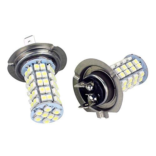 Hot System™ 2 Pcs Car H7 68 Smd Led 6000K Xenon Super White Head Light Headlight Bulbs Lamp Or Daytime Running Lights Lighting Drl 12V 3528