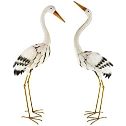 Garden Figurine Featuring Stork Set of 2 95 CM Modern Ornament