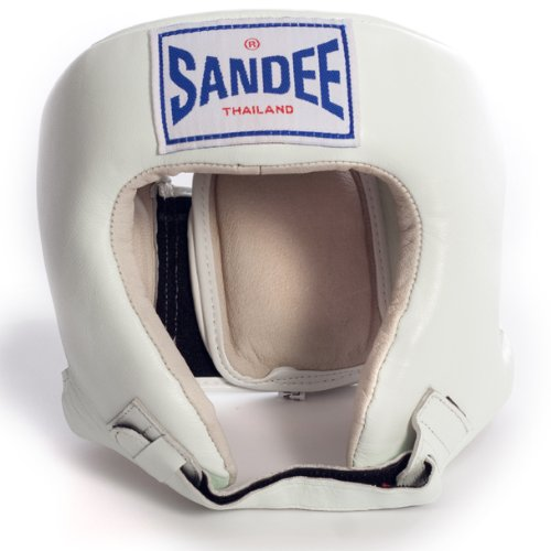 Sandee - Head Guard Open Face - White - Size M (For Boxing, MMA, UFC, Muay Thai)