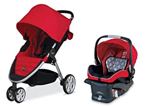 Britax 2014 B-Agile and B-Safe Travel System, Red  (Prior Model)