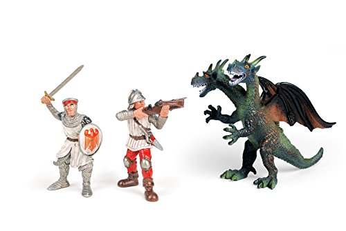 Kingdom of Knights Knights Action Figure with Two Headed Dragon - 1