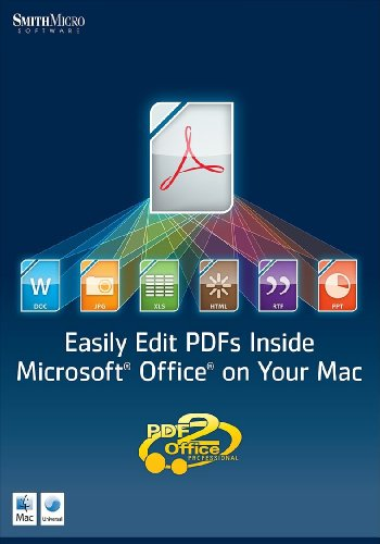 Smith Micro Pdf2Office Pro For Office Mac Crom Os X 10.4.11/Higher
