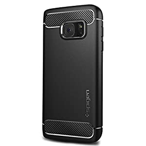 Spigen Rugged Armor Galaxy S7 Case with Resilient Shock Absorption and Carbon Fiber Design for Samsung Galaxy S7 2016 - Black by SPIGEN