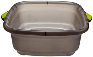 Casabella Way Clean Dish Tub, Taupe/Green