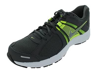 Nike Men's NIKE DART 10 RUNNING SHOES 8.5 Men US (ANTHRCT/MTLC CL GRY/VLT/WHITE)