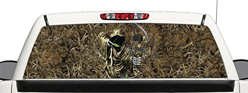 Truck SUV Bow Reaper Grass Camo Rear Window Graphic Decal Perforated Vinyl Wrap (22x66) (Hunting Rear Window Decal compare prices)