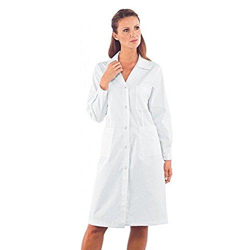 ISACCO - Camice Donna Antiacido Bianco Poliestere / Cotone - M