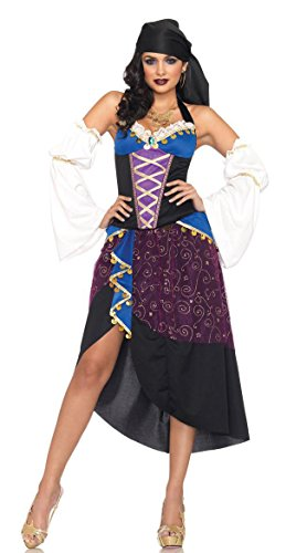 GALHAM - Fancy Adult Tarot Card Strapless Belly Dancer Gypsy Women Dress Costume