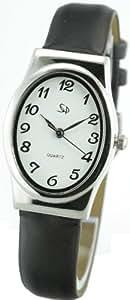 Spirale - 2133152 - Montre Femme - Quartz Analogique - Cadran Blanc - Bracelet Plastique Marron