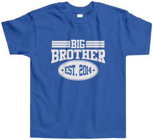 Threadrock Little Boys' Big Brother 2014 Toddler T-Shirt 4T Royal Blue front-12064