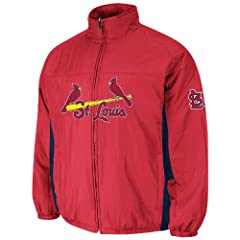 St. Louis Cardinals Red Authentic Triple Climate 3-In-1 On-Field Jacket by Majestic by Majestic