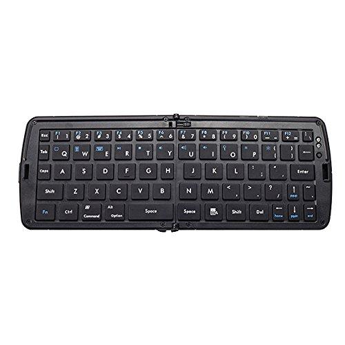 Vktech Wireless Foldable Bluetooth Keyboard For Laptop Tablet Smartphone (Black)