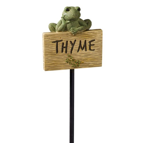 Grasslands Road Frog Figurine Thyme Garden Marker, 27-Inch, Set Of 3 back-960300