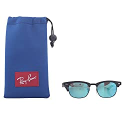 Ray-Ban Junior RJ9050S Square Sunglasses, Matte Black & Red Multilayer, 45 mm