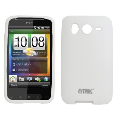 White Silicone Skin Cover Case for HTC Desire HD