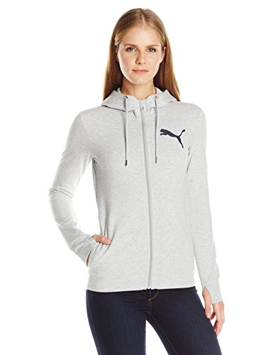 PUMA Women's Active Track Jacket with, Light Gray Heather, Large