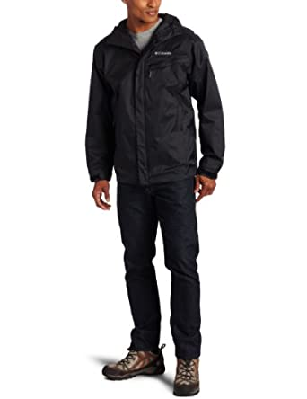 Columbia Men's Big Watertight Packable Rain Jacket, Black, 2X
